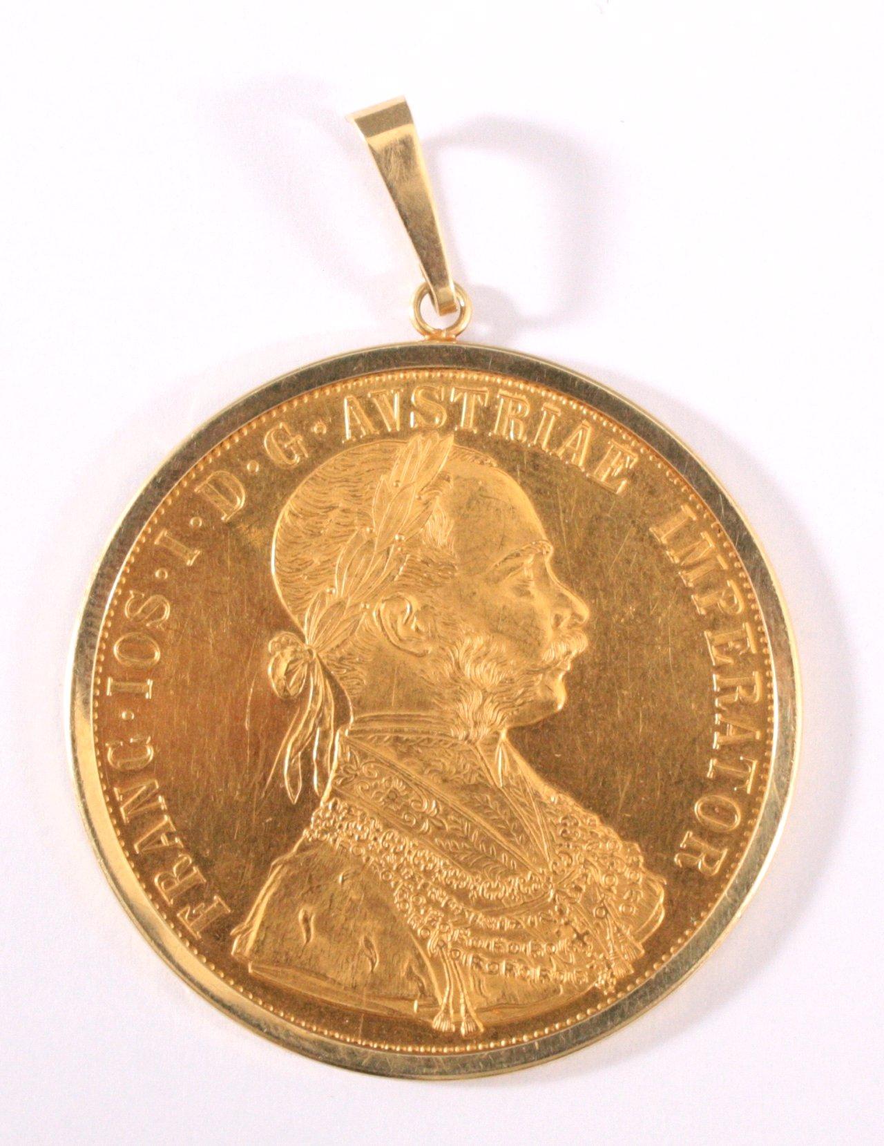 4 Dukaten Österreich Kaiser Franz Joseph I.