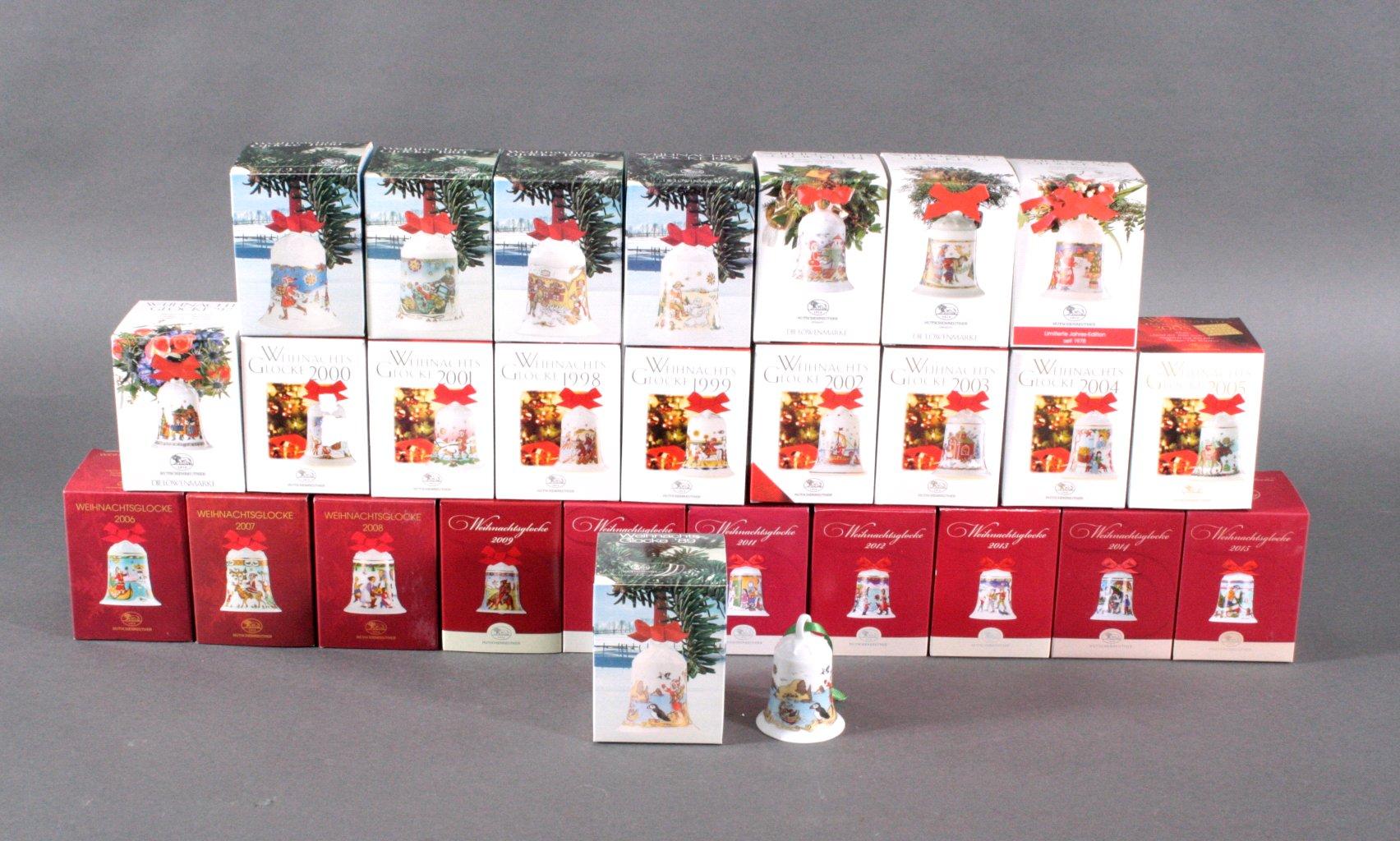 Hutschenreuther Weihnachtsglocke, komplett 1989 bis 2015