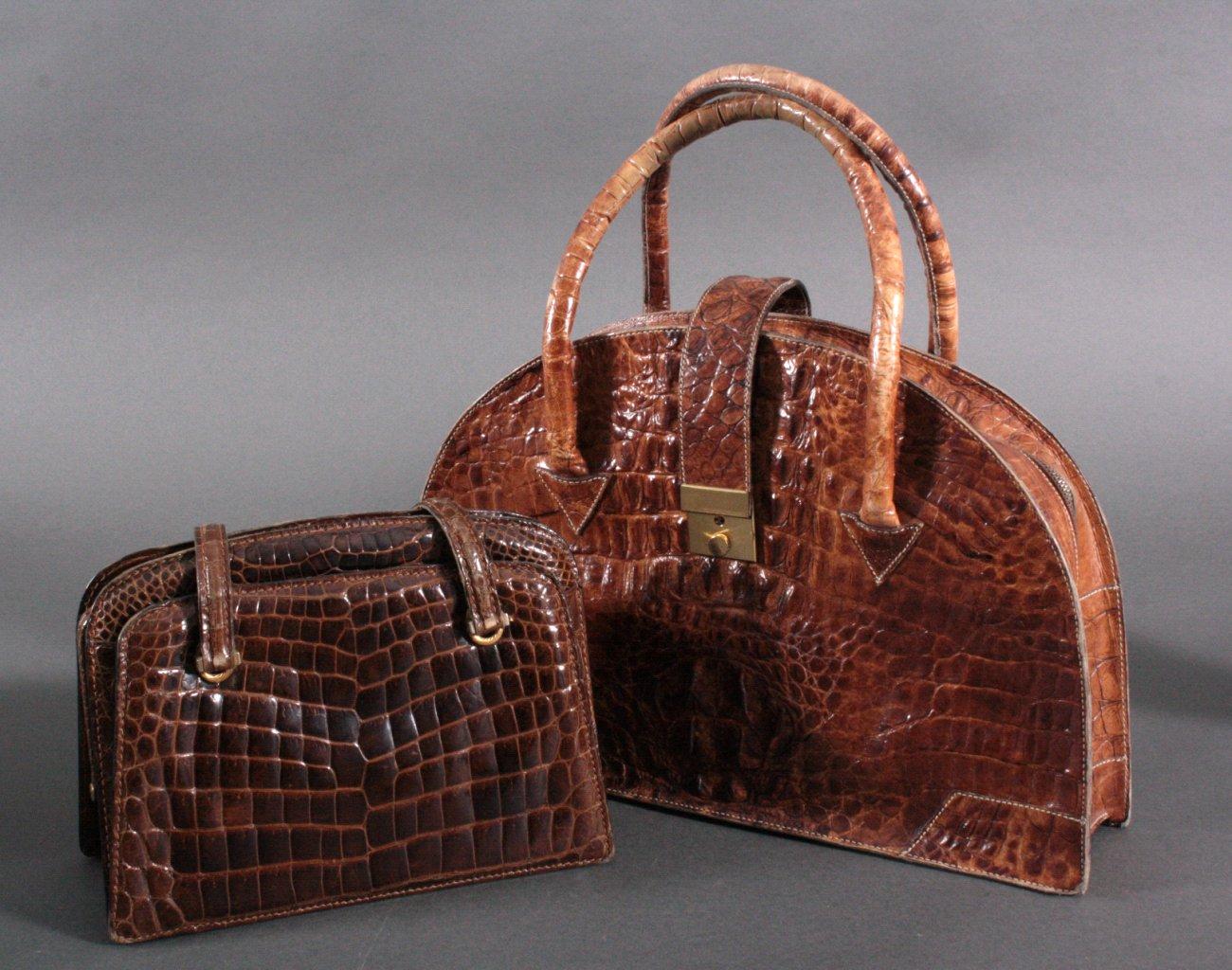 2 Krokodilleder Taschen
