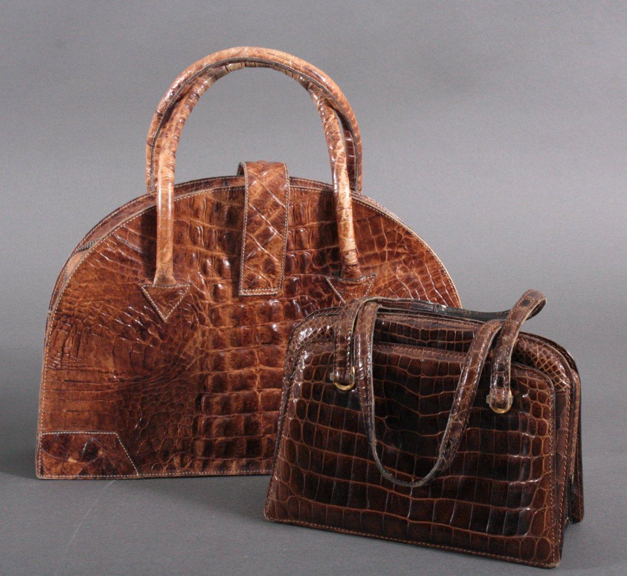 2 Krokodilleder Taschen-1