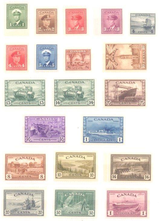CANADA 1942-1949, Kriegsproduktion / Friedensproduktion