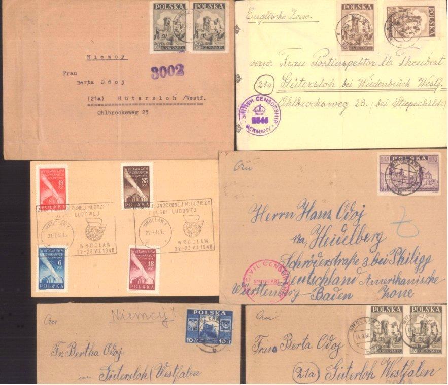 POLEN 1947/1948, Belegelot, mit ZENSUR
