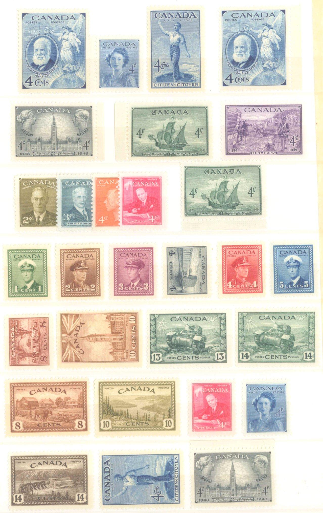 CANADA 1942-1949-1