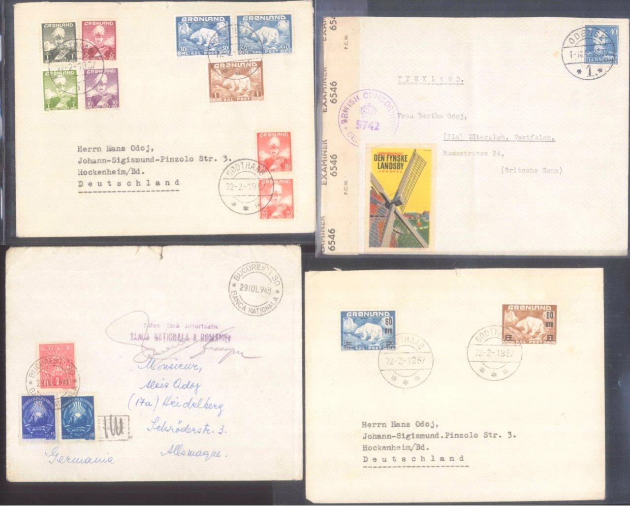 EUROPA – Belegeposten,Frankreich,Rumänien,Dänemark,Schweden