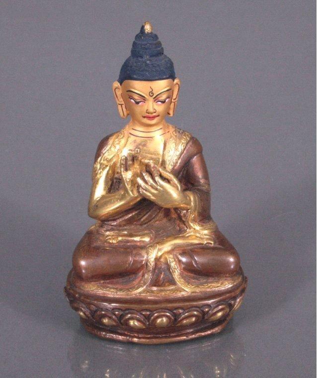 Buddha, feuervergoldete Bronze, Tibet