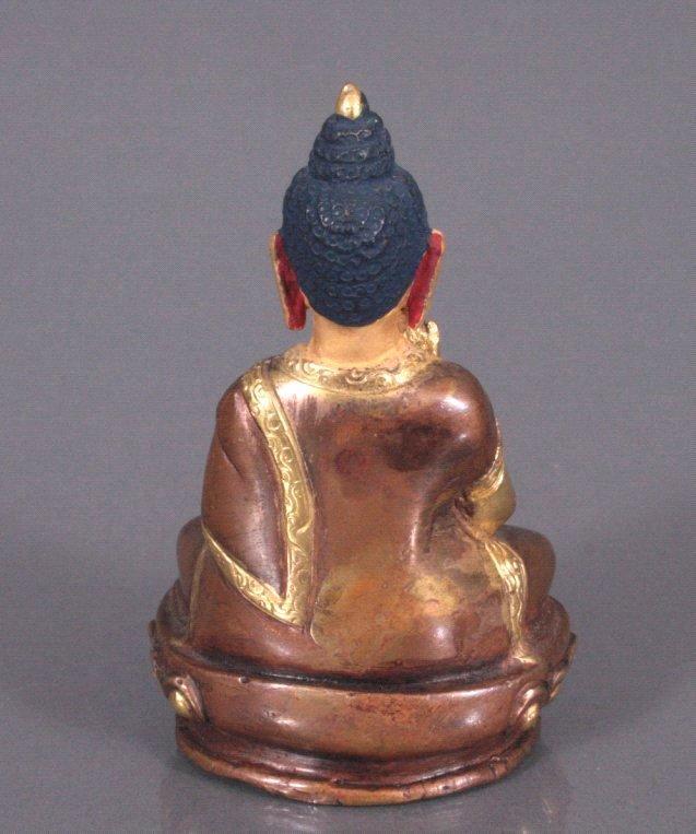 Buddha, feuervergoldete Bronze, Tibet-1