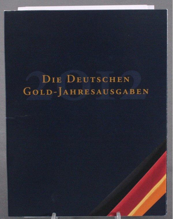 Die Deutschen Gold Jahresausgaben 2012