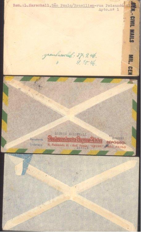III. REICH / BRASILIEN 1936/1946, Geschichte HEIDELBERG!!!!-1