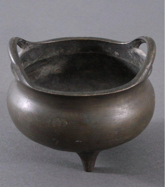 Räuchergefäß aus Bronze, China um 1900