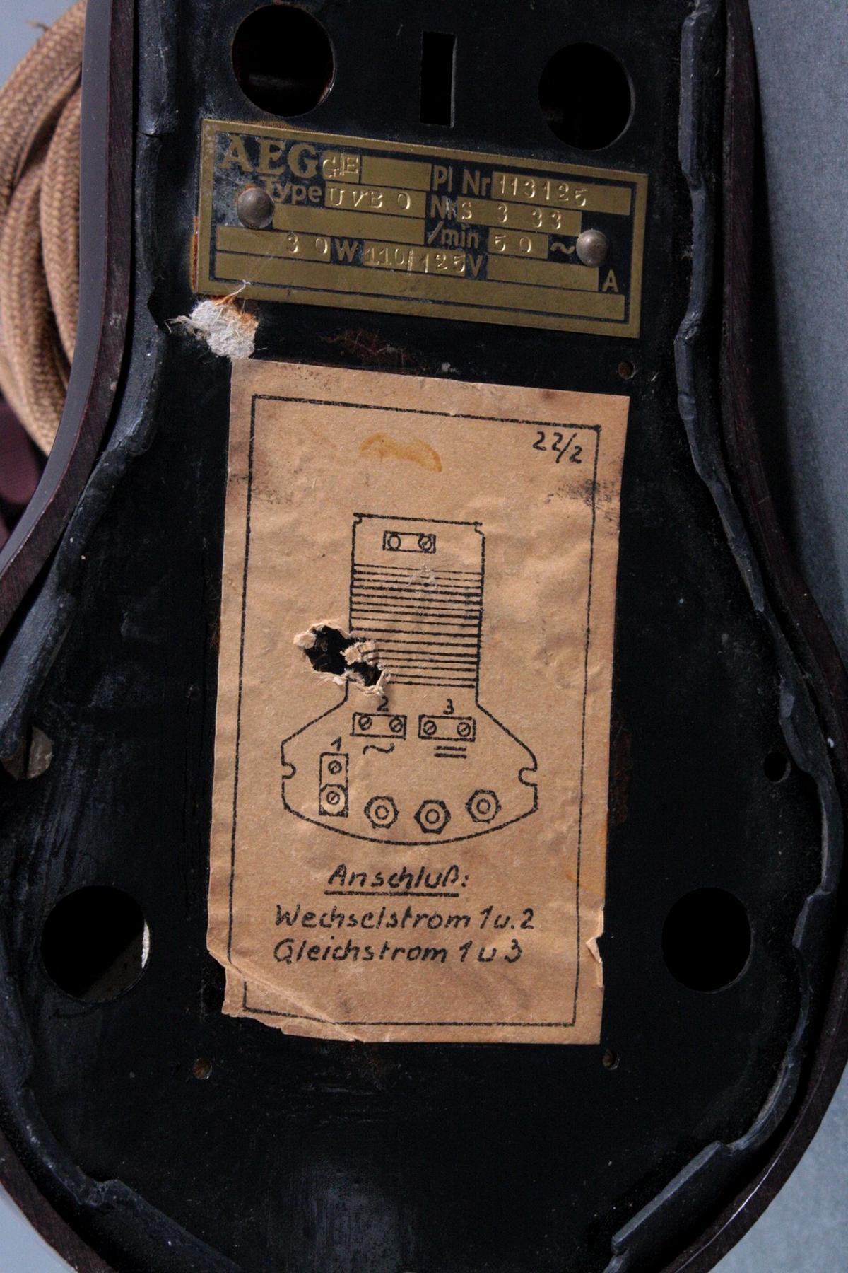 Antiker Tischventilator von AEG-3