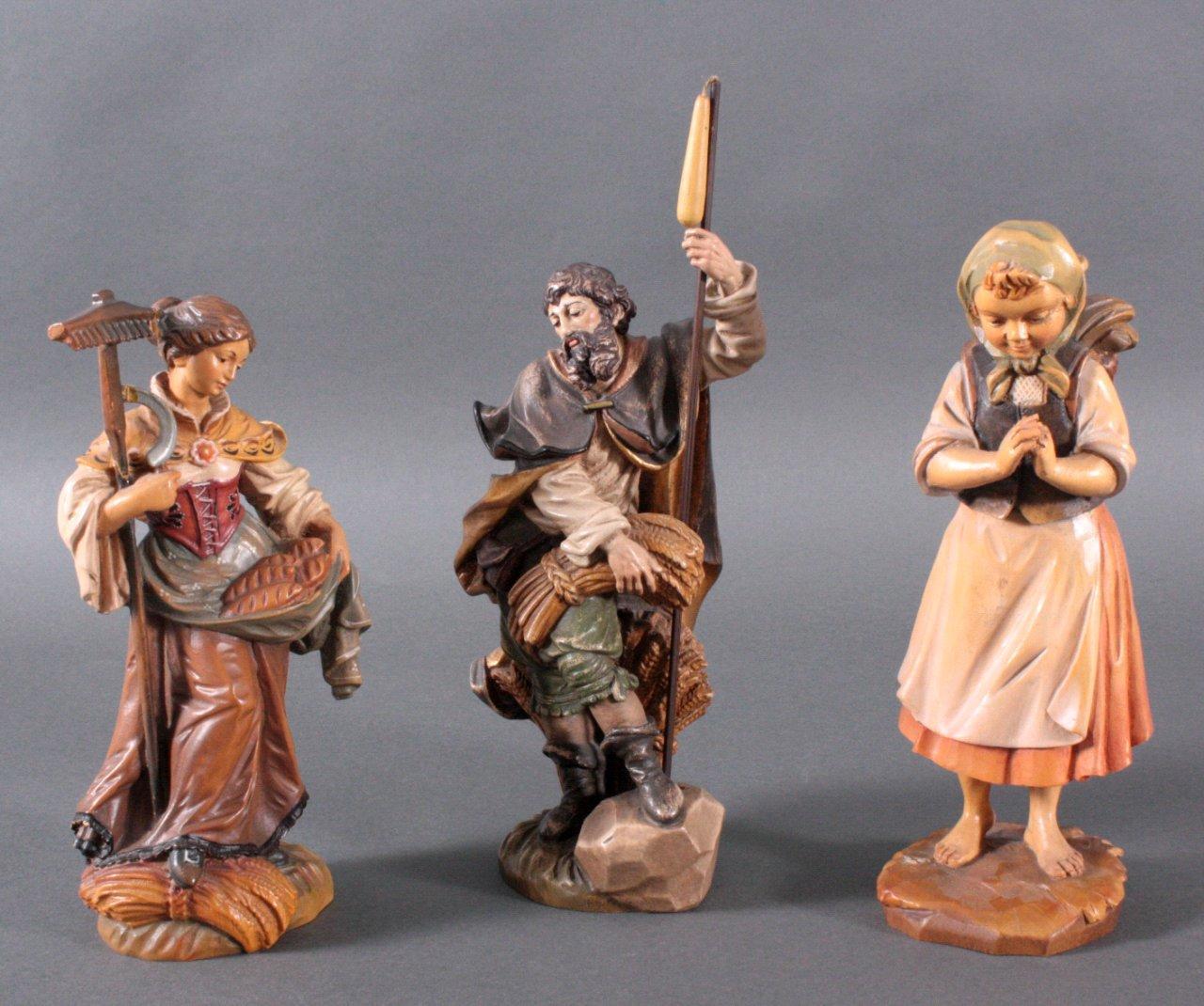 3 Holzfiguren