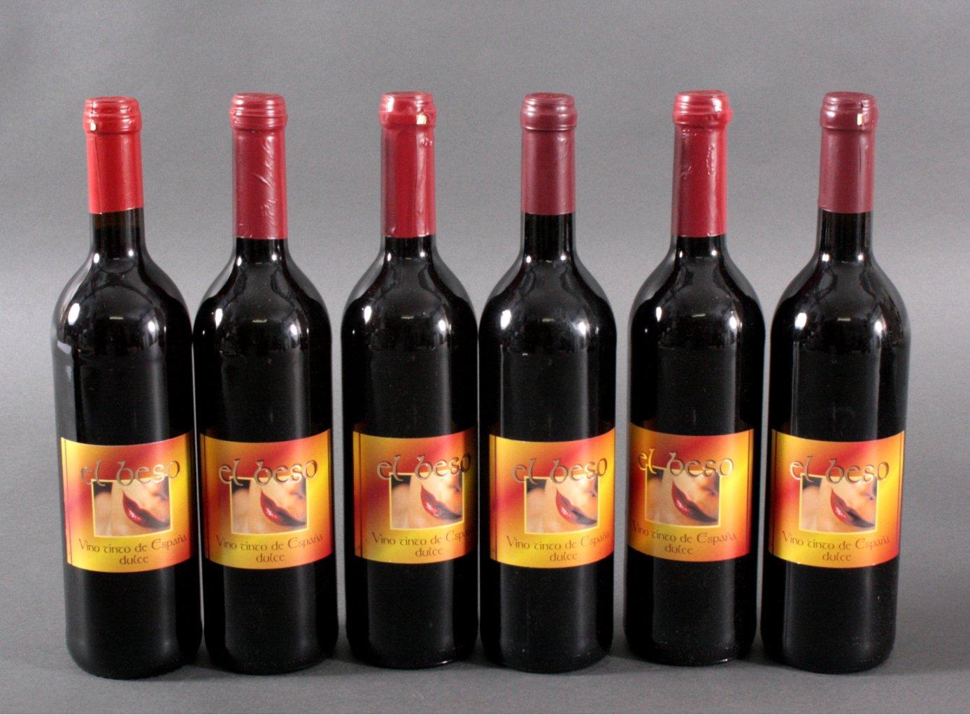6 Flaschen Rotwein