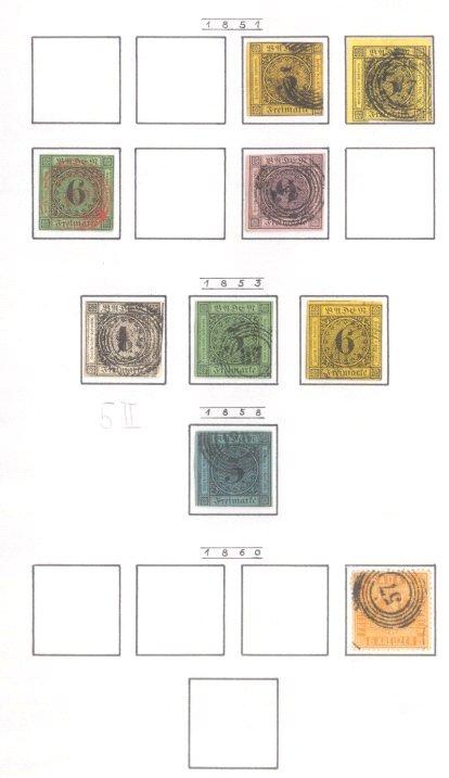 BADEN 1851-1868, mit Michelnummer 5 PF II !!