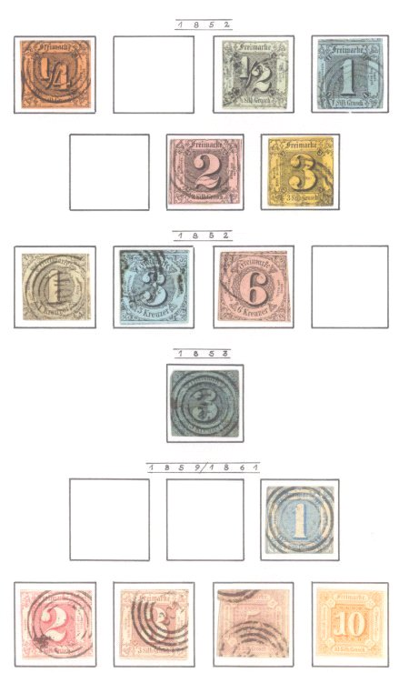 THURN und TAXIS 1852-1866