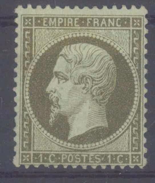 1862 FRANKREICH, 1 Cent Napoleon III., KW 170,- Euro