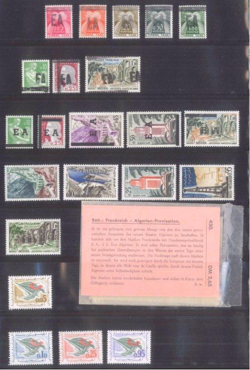ALGERIEN 1962-1963 mit Porto!, Katalogwert 90,- Euro