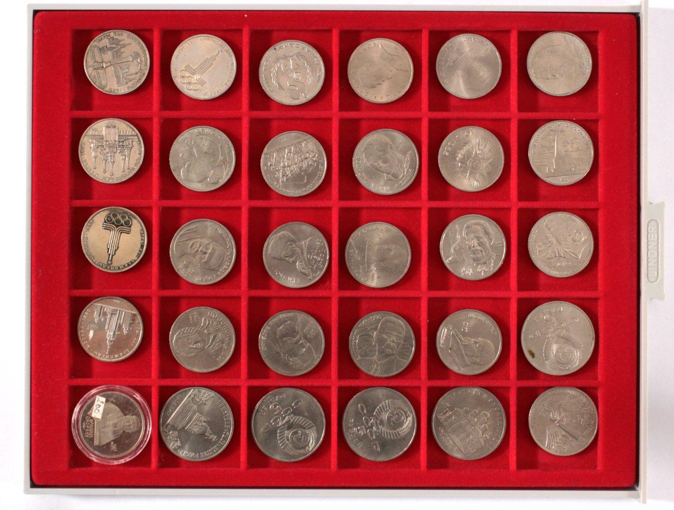 30 russische Münzen