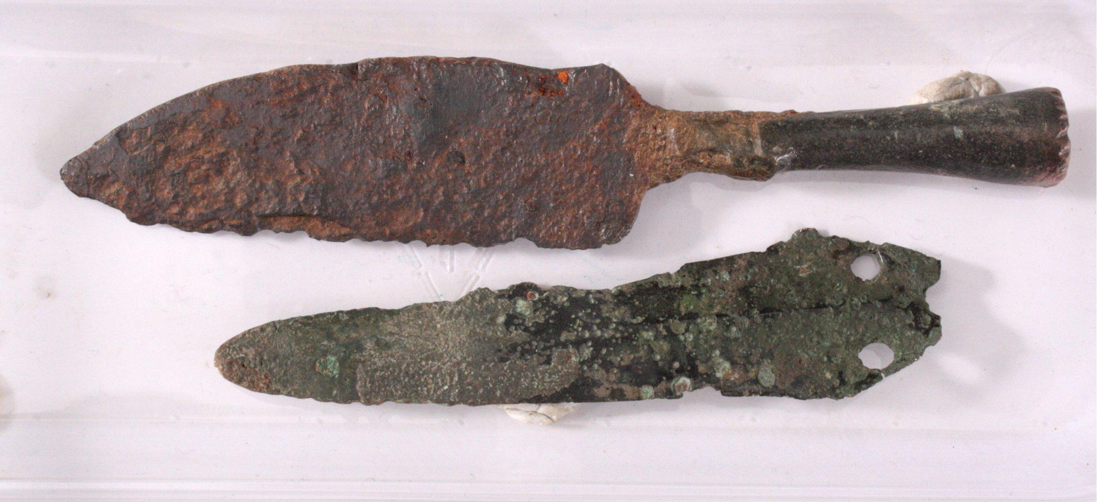 Keltischer Dolch und Messer