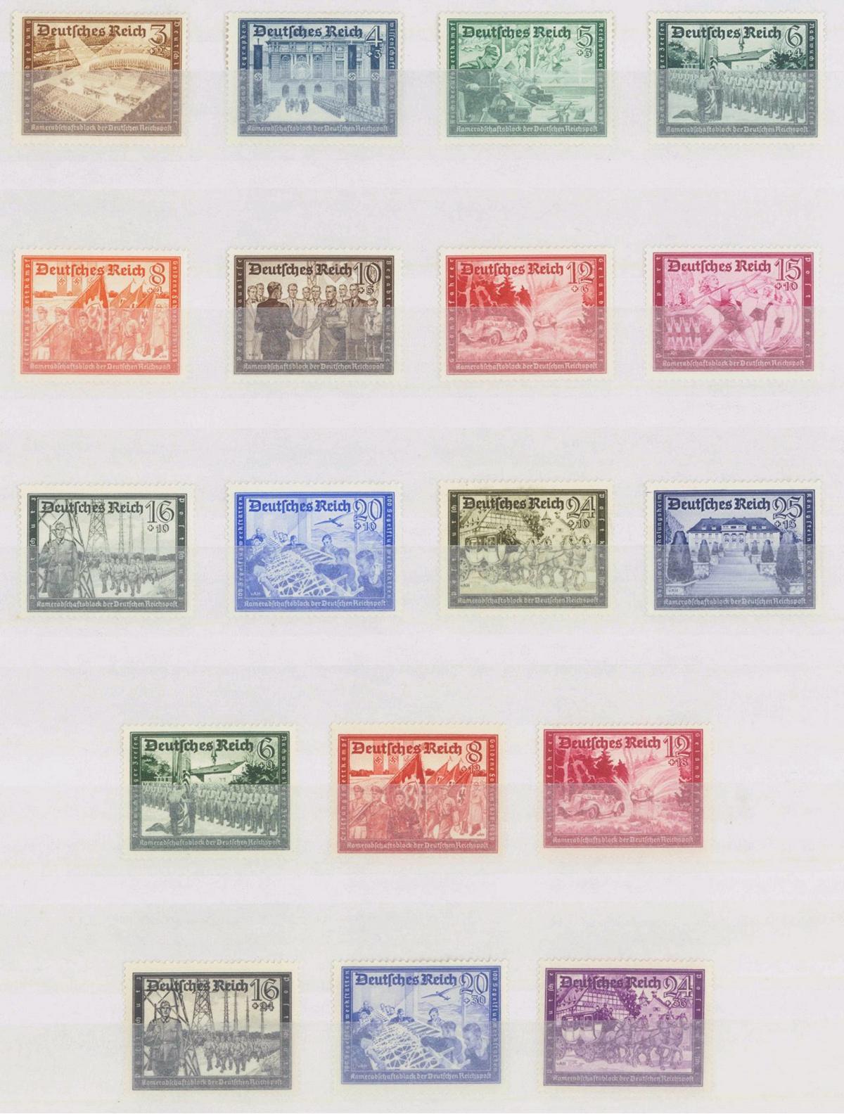 III. REICH 1939/41, Kameradschaftsblock Reichspost (I+II)