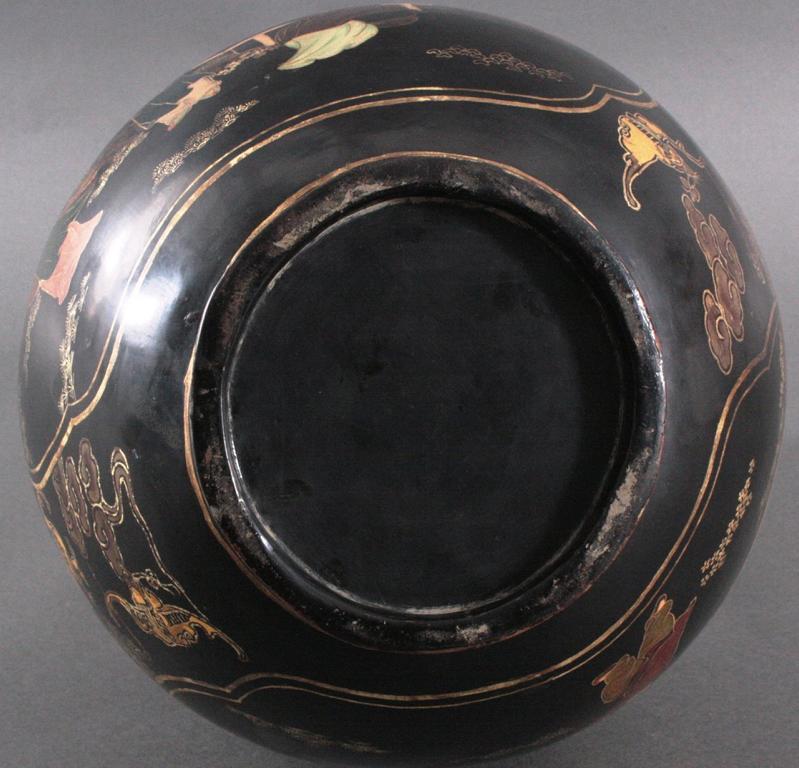 Antike Prunk Lack-Vase, China 19. Jh.-3