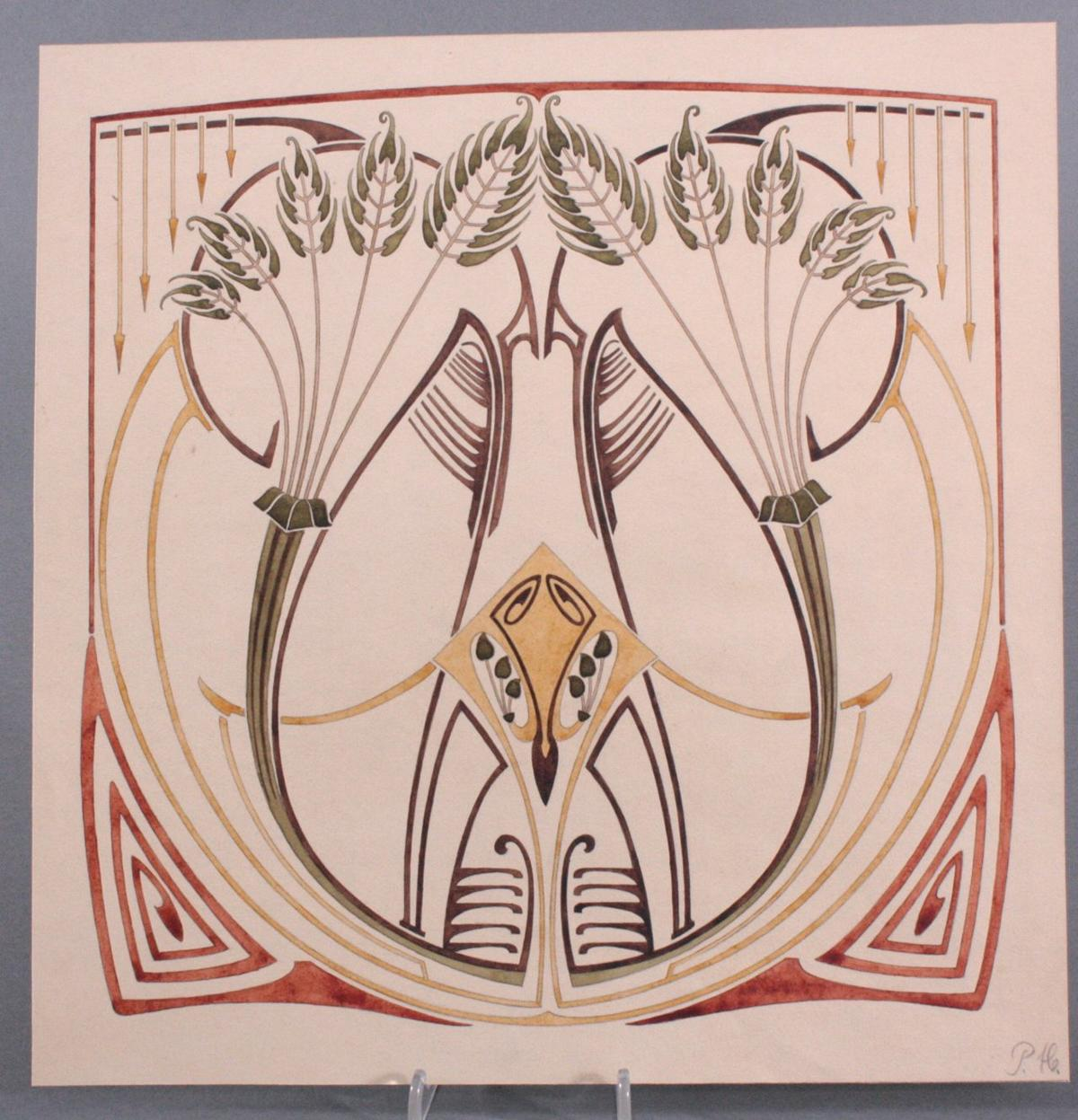 "Paul Haustein (1880 – 1944), ""Florales Jugendstil-Ornament"""