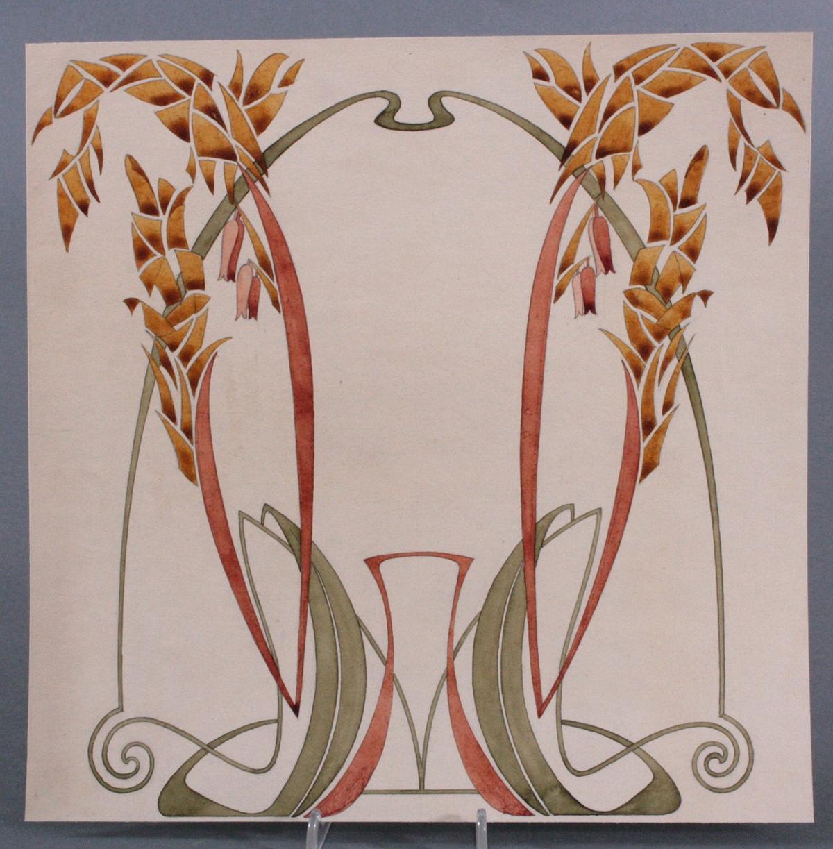 "Paul Haustein (1880 – 1944), ""Florales Jugendstil-Ornament"""
