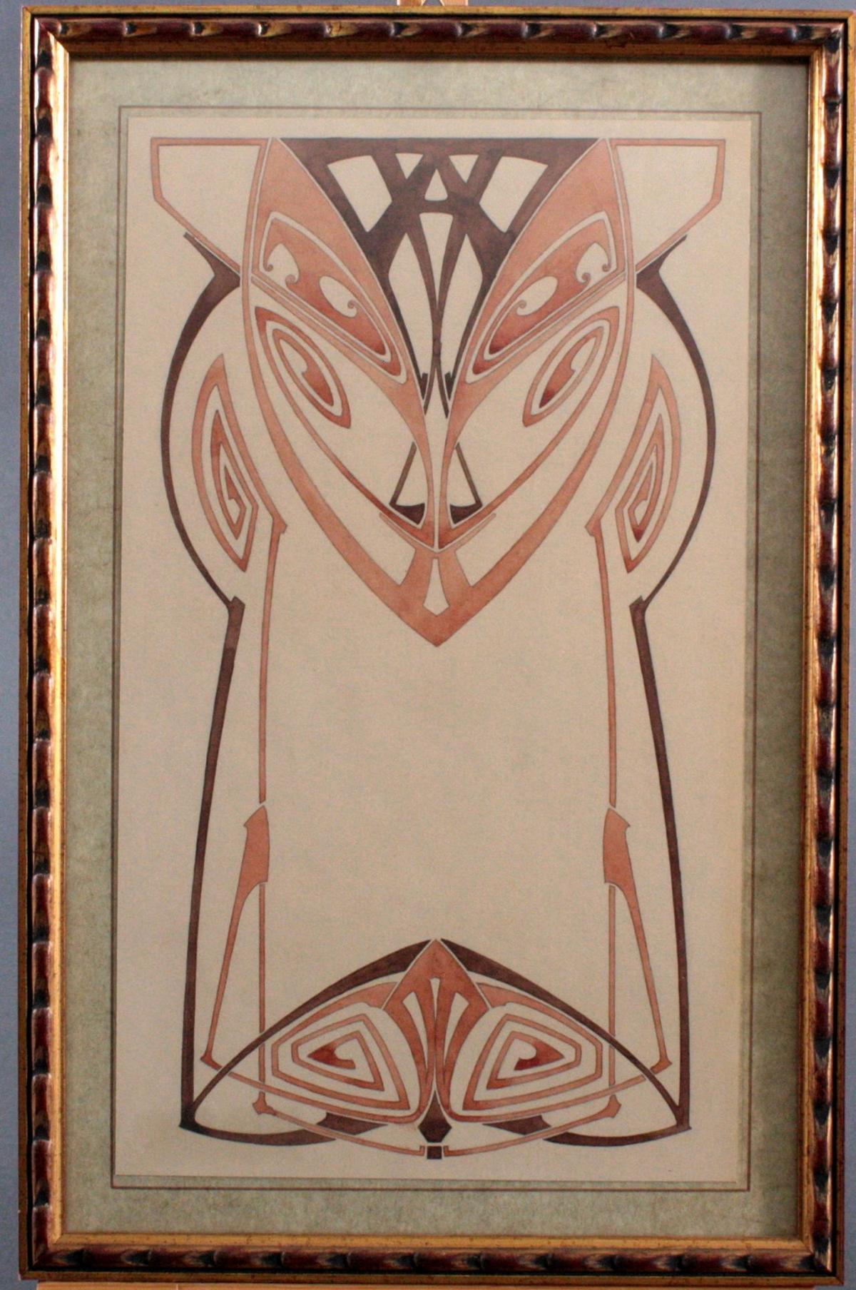 """Paul Haustein (1880 – 1944), """"Jugendstil-Ornament"""""""