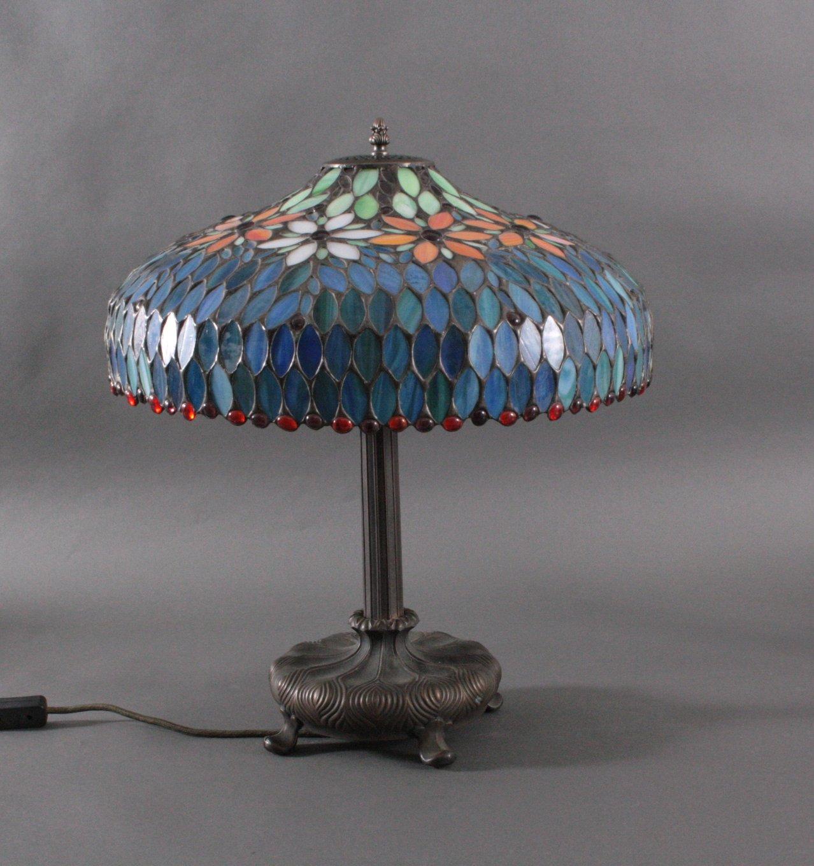 Jugendstil Tisch-Lampe der Marke L&L WMC, New Jersey um 1920