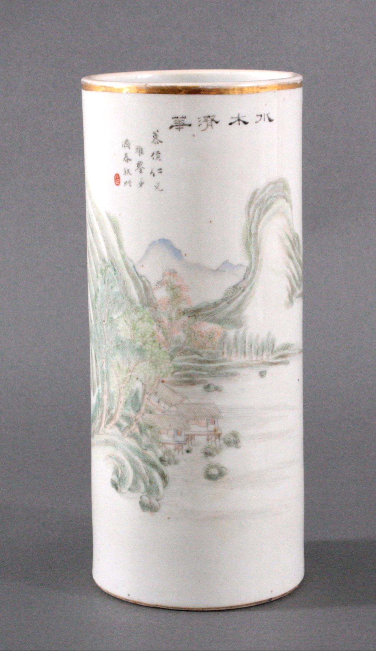 Zylindervase/Hutständer, China Quing-Dynastie