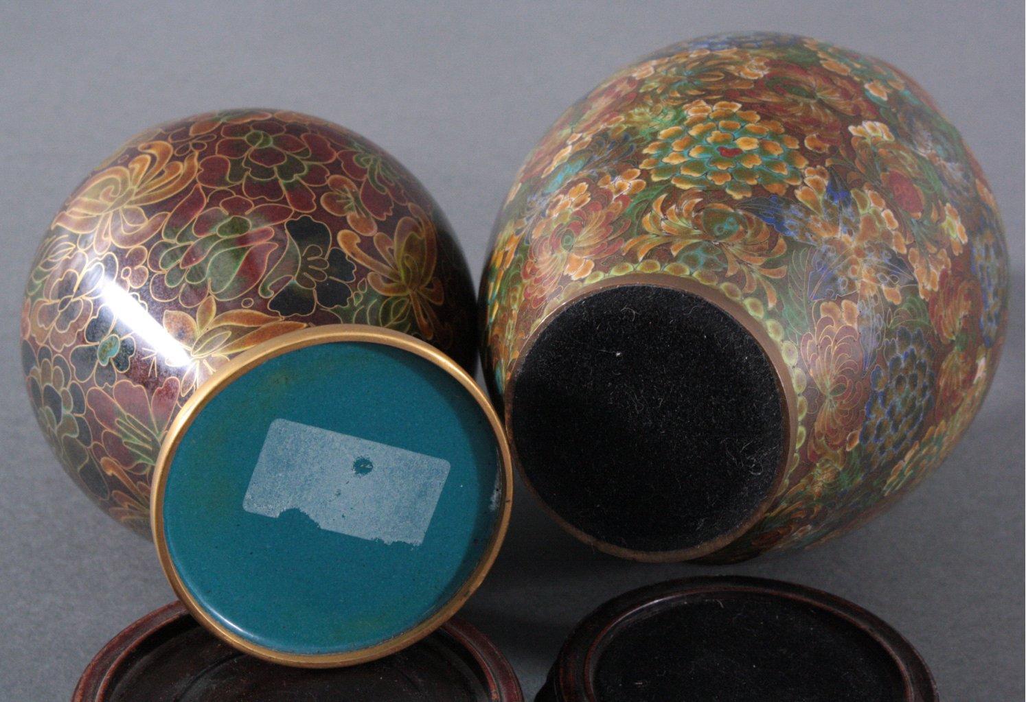 Zwei Cloisonné-Vasen-1