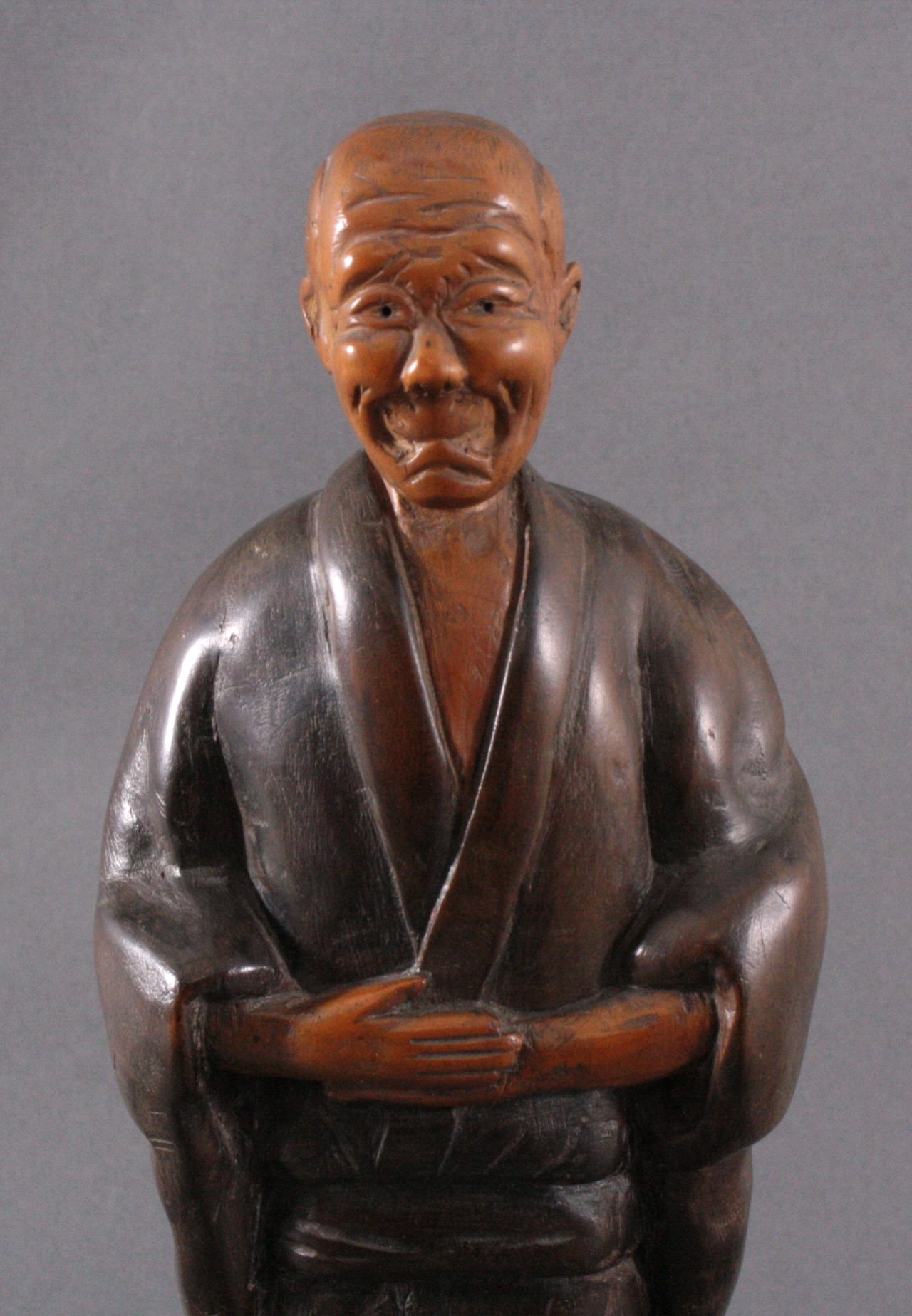 "Holzfigur ""Gelehrter"", Japan um 1900-1"