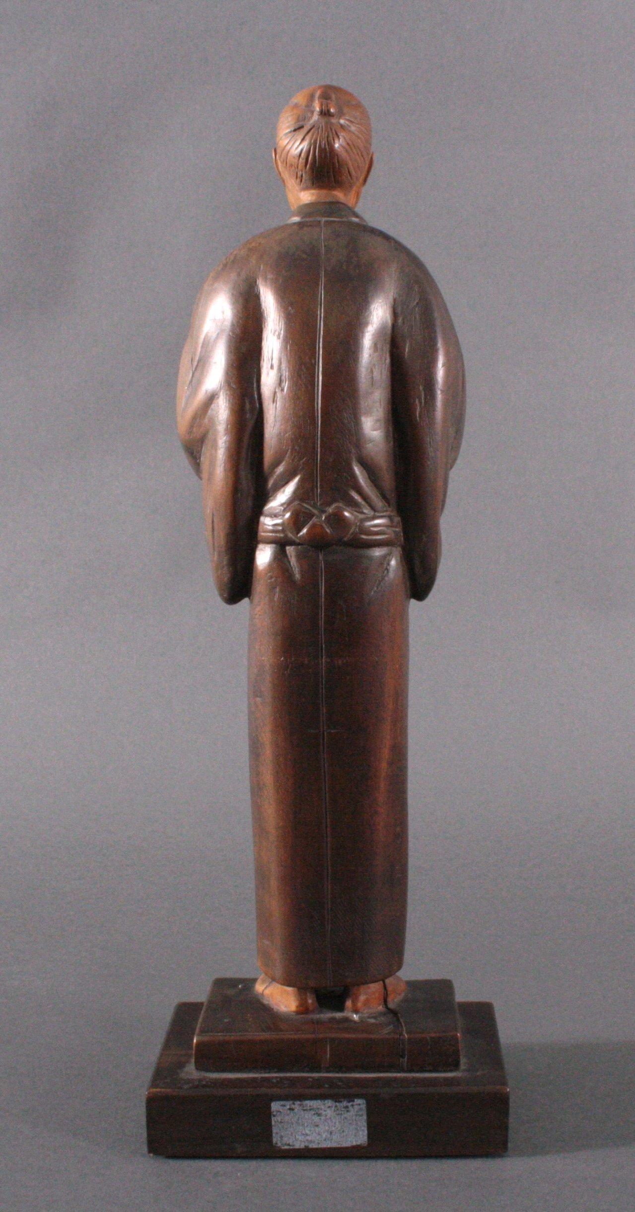 "Holzfigur ""Gelehrter"", Japan um 1900-3"