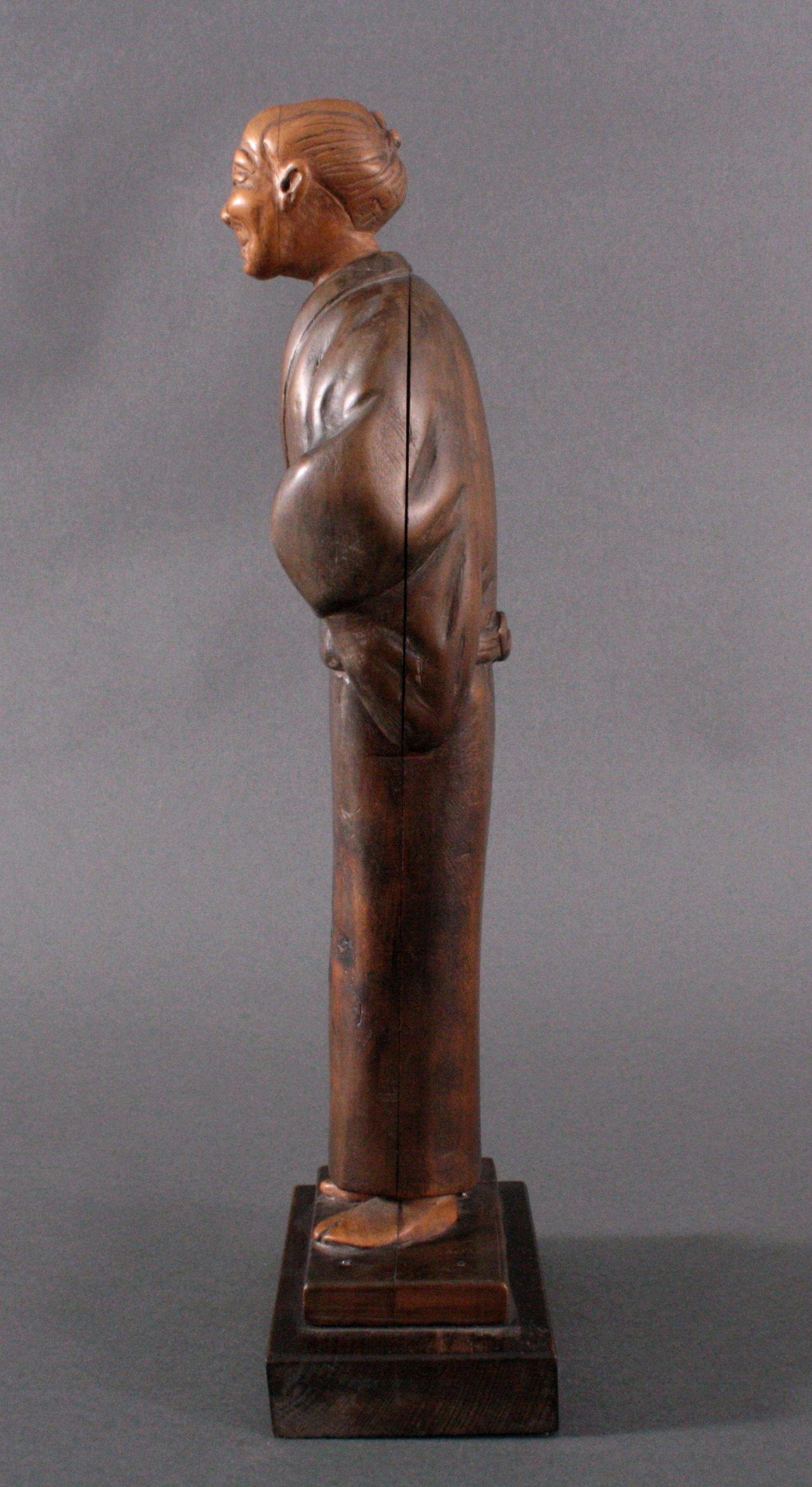"Holzfigur ""Gelehrter"", Japan um 1900-4"