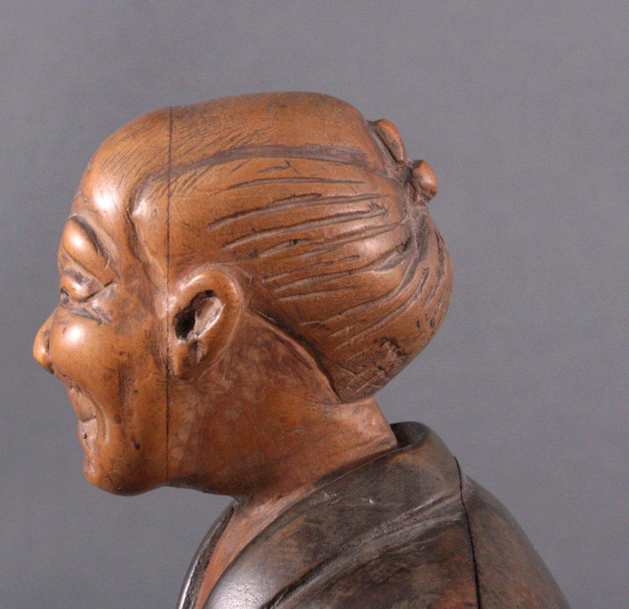 "Holzfigur ""Gelehrter"", Japan um 1900-5"
