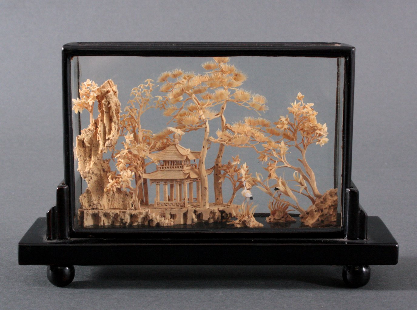 Diorama- Landschaft mit Pagode