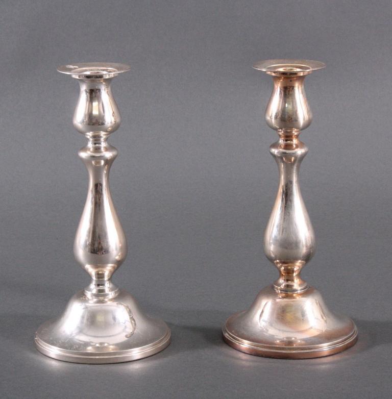 Paar Kerzenständer, 925er Sterlingsilber