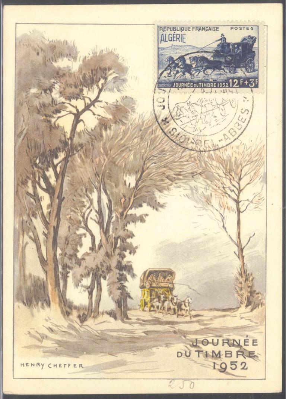 ALGERIEN 1952, SIDIBELABBES, Tag der Briefmarke, Maison mère