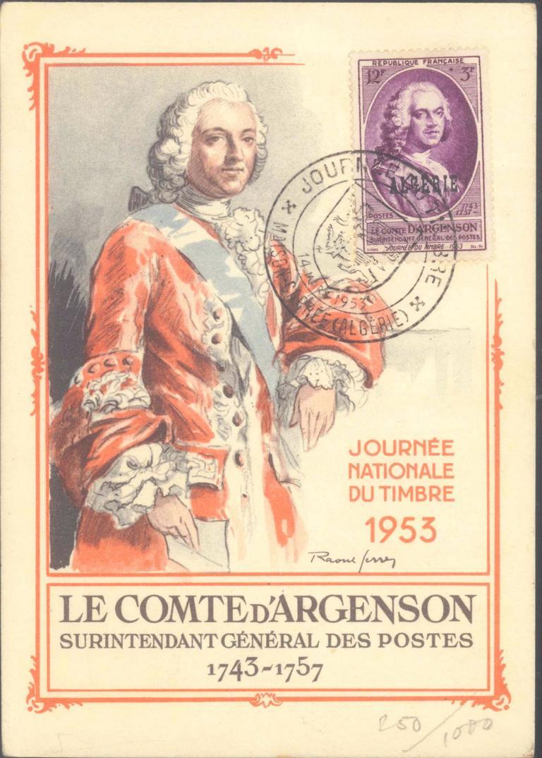 FRANKREICH – ALGERIEN 1953, MAISON-CARRE, Tag der Briefmarke