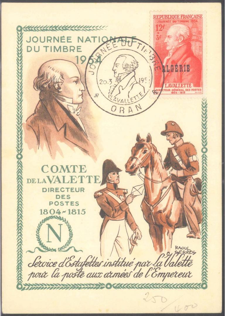 ALGERIEN 1954, ORAN, Tag der Briefmarke