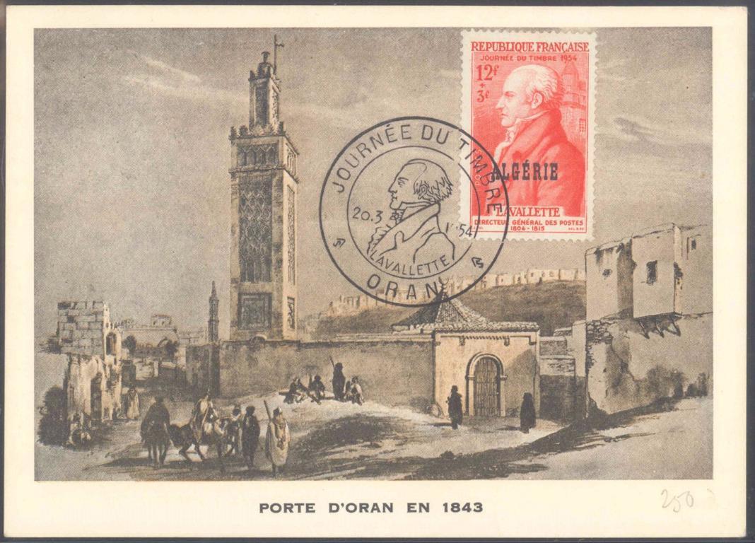 FRANKREICH – ALGERIEN 1954, ORAN, Tag der Briefmarke