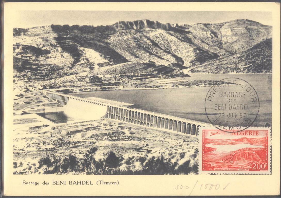 FRANKREICH – ALGERIEN 1957, TLEMCEN, Flugpost