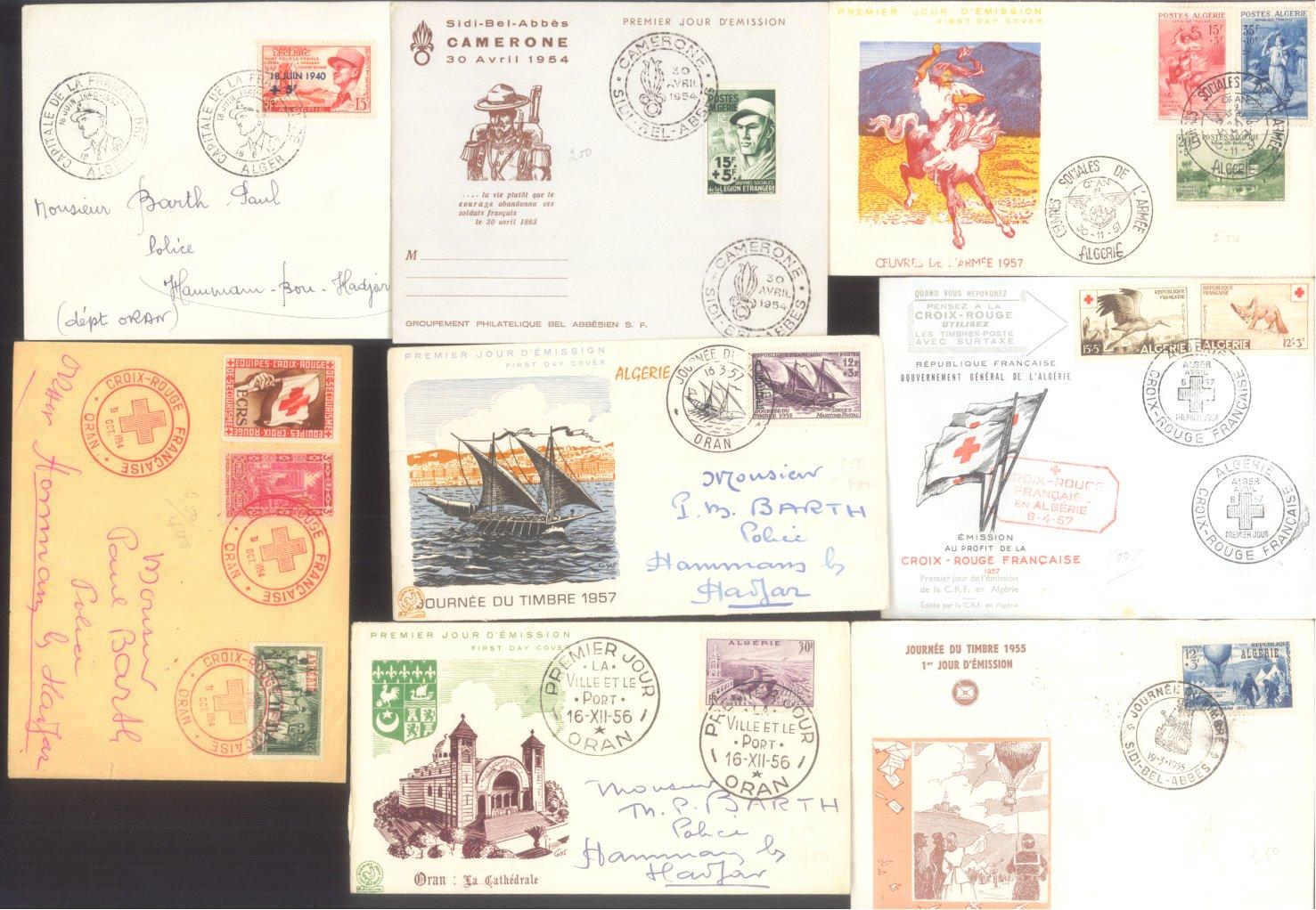 ALGERIEN 1954-1961, Belegeposten