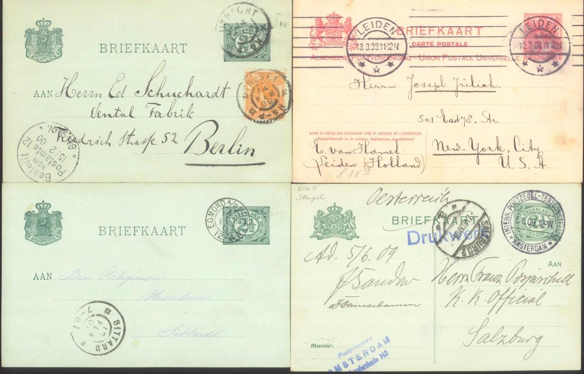 NIEDERLANDE 1901-1909 (C.C.C.- Mitgliedsnummer!)