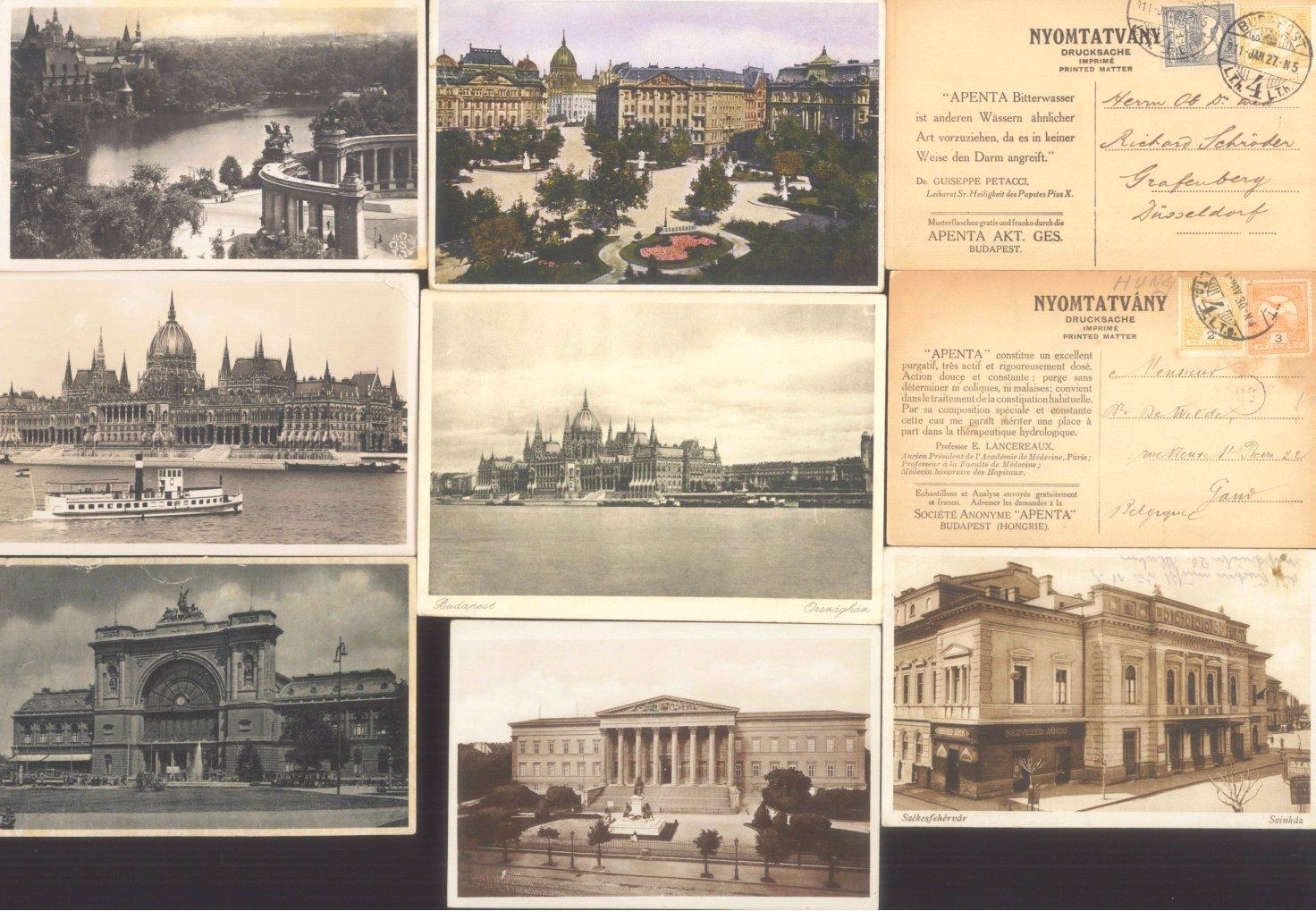 UNGARN, ANSICHSTKARTEN 1911-1997, 230 Stück + Zugabe!