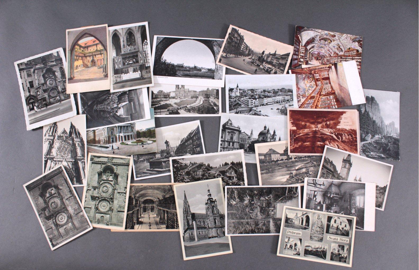 ANSICHTSKARTEN – BÖHMEN/MÄHREN/TSCHECHOSLOWAKEI – vor 1945