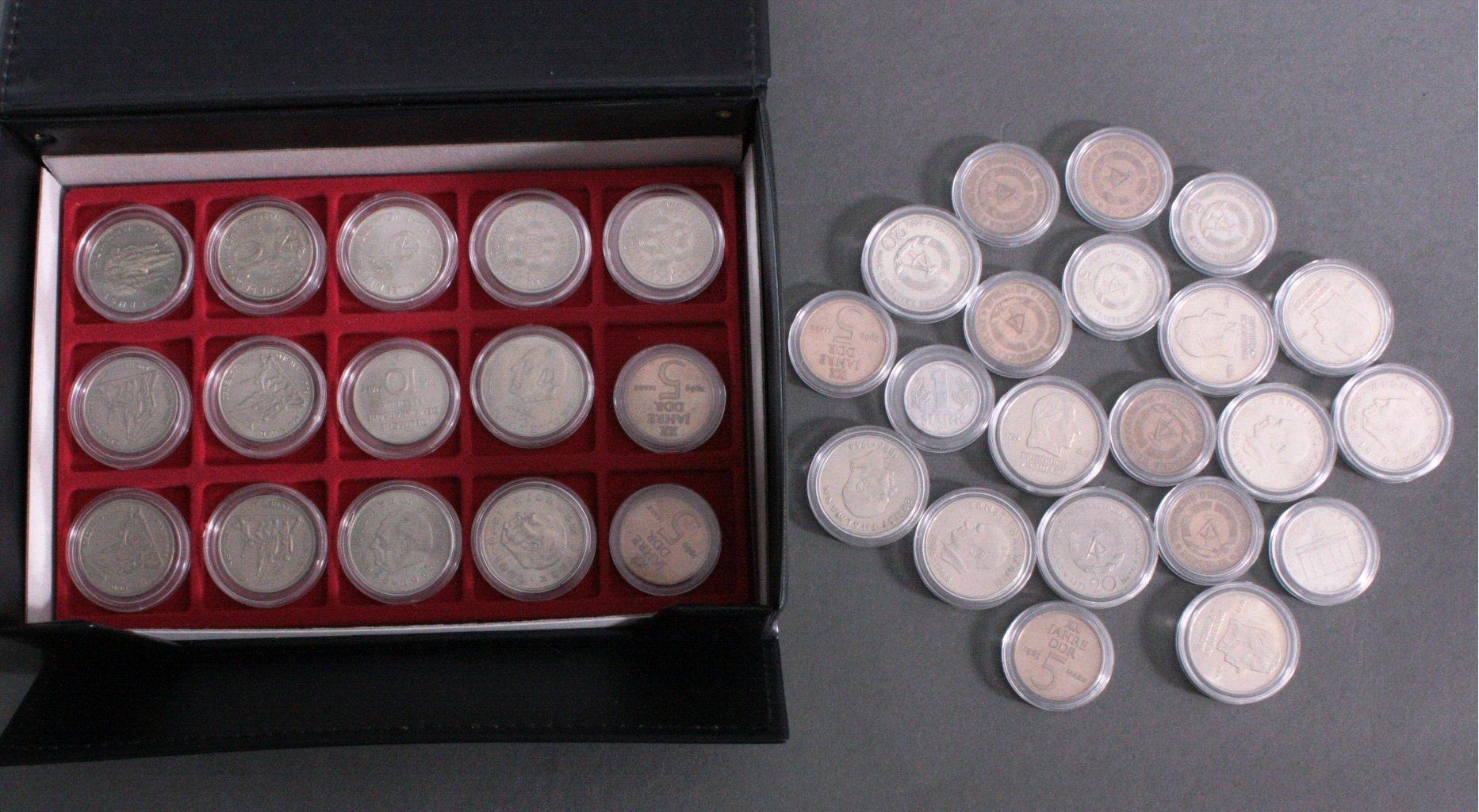 Sammlung DDR 5, 10, 20 Mark Münzen
