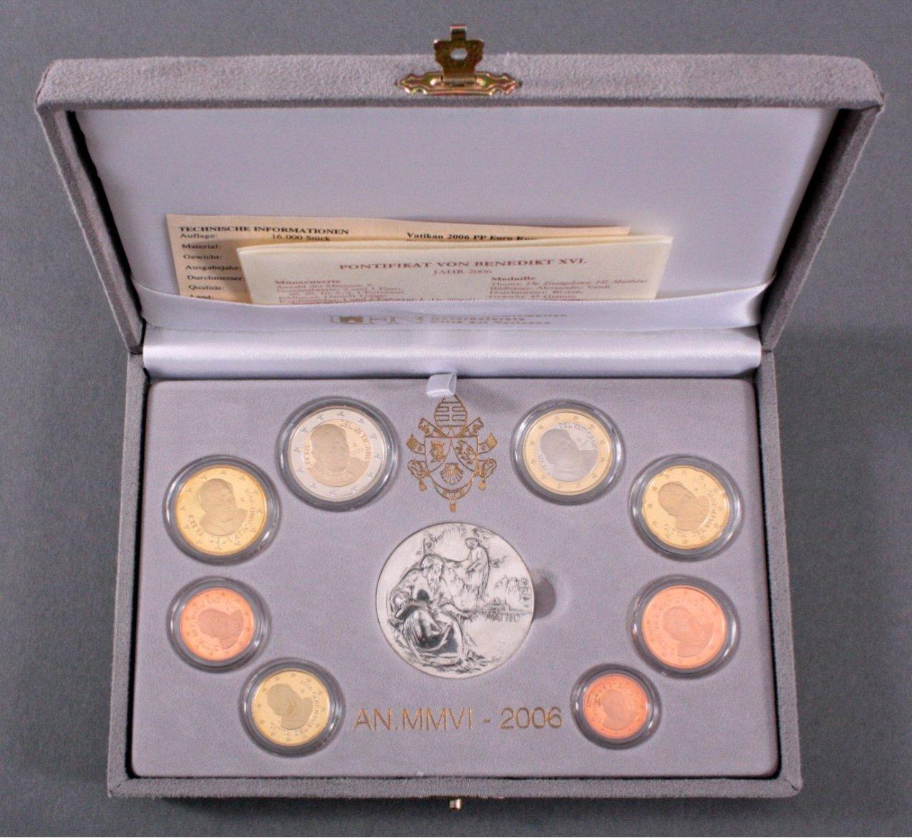 Vatikan Kursmünzensatz 2006