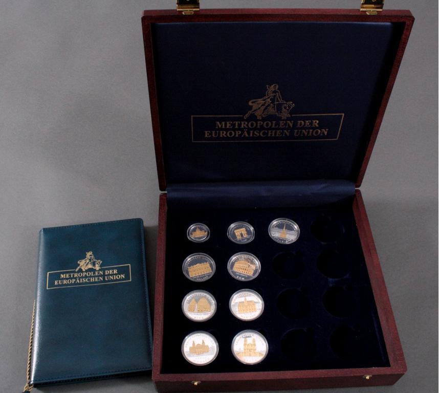 Silbermedaillen, Metropolen der Europäischen Union
