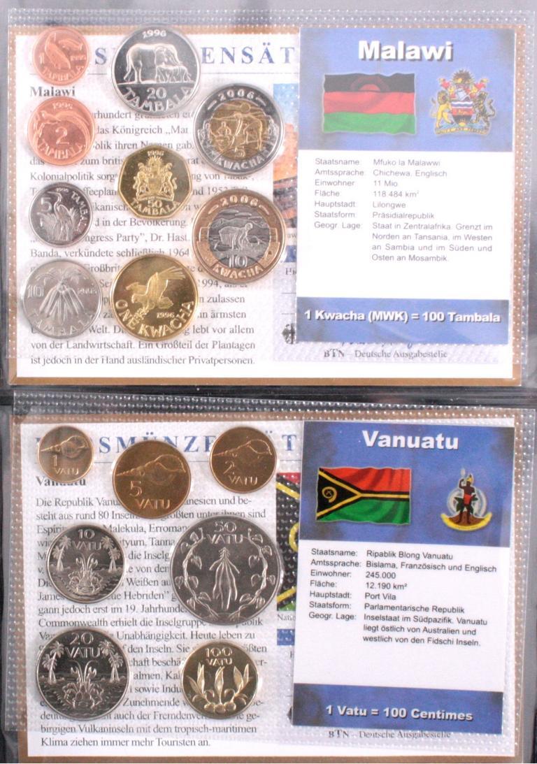 Kursmünzensätze der Welt-1