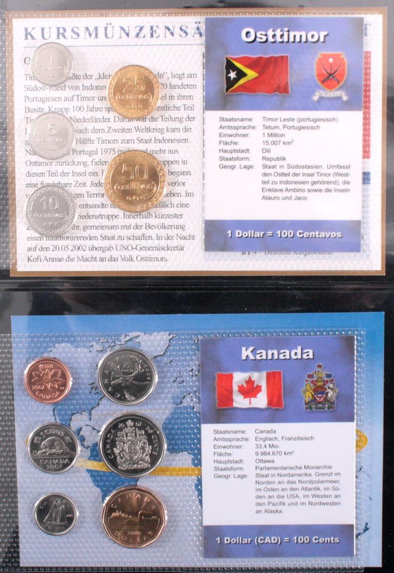 Kursmünzensätze der Welt-2